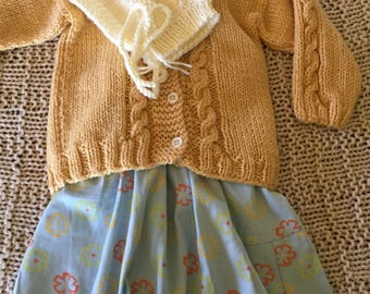 Hand Knitted wool child's sweater