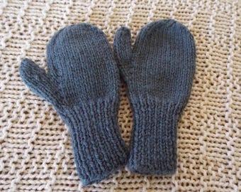 Baby, Toddler, Children's Hand Knit Mittens