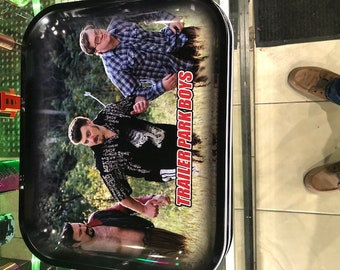 """Trailer Park Boys SNEAKING Tobacco Rolling Tray 13.5""""x11"""""""