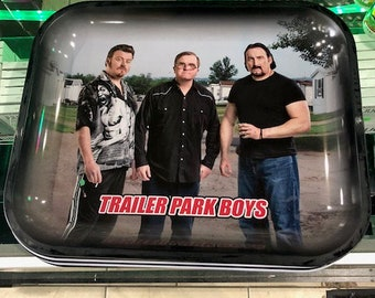 """Trailer Park Boys THE GANG Tobacco Rolling Tray 13.5""""x11"""""""