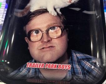 "Trailer Park Boys KITTIE Tobacco Rolling Tray 13.5""x11"""