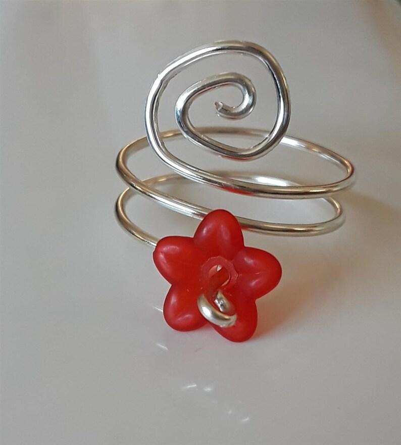 Flower Spiral Ring