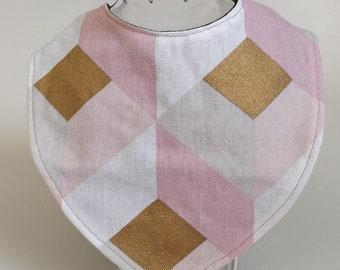 Reversible bandana bib in cotton and Microfiber