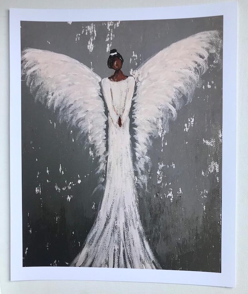 African American Guardian Angel Print