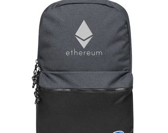 Ethereum Crypto Currency Blue Logo Sports Backpack Drawstring Bag