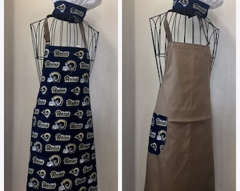 Reversible Men s Rams Sports Apron (Attached NFL Bottle Opener) 2bb086357