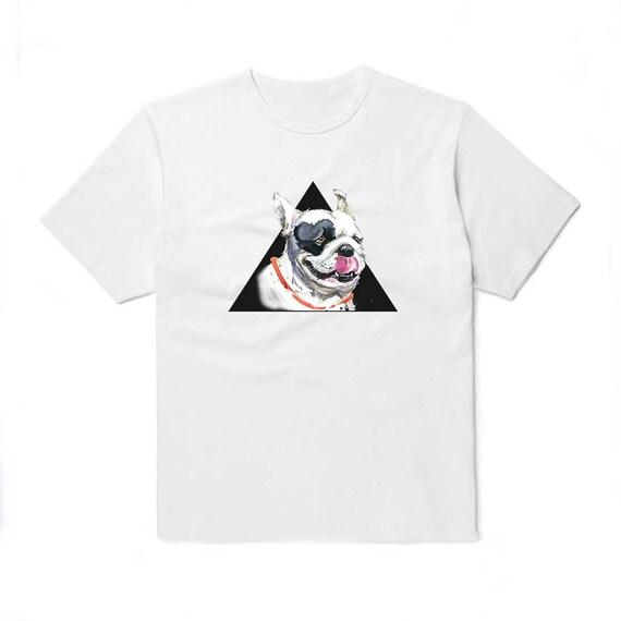 Bulldog Anglais graphic shirt Tuff Chien Design Dur Bull Unisexe ras du cou 17913