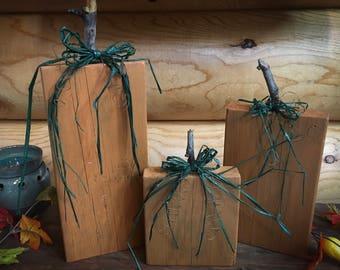 Rustic pumpkins - set of 3