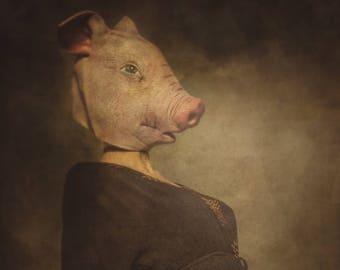 This Little Piggy - A Dark Art Photographic Print