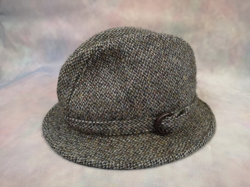 e85d0495643a6 Vintage Harris Tweed Walking Hat. Country Classic. Heritage.   Etsy