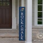 Rock Chalk Porch Sign, Kansas Jayhawks, Jayhawks Sign, Outside Decor