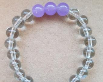 Toddler aromatherapy bracelet 6mm with lava stones