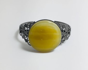 Yellow Fused Glass Bracelet