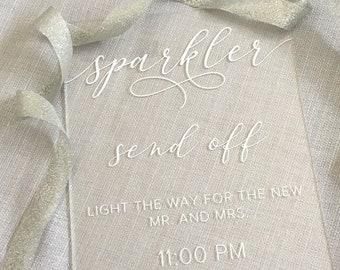 Sparkler Send Off Sign | Acrylic Wedding Sign | Wedding Sparkler Sign | Custom Sparkler Send Off Sign