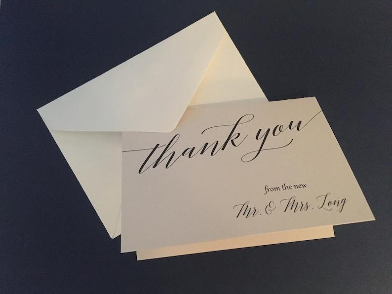 Wedding Thank You Cards  Blush Thank You Notecards  Wedding image 0