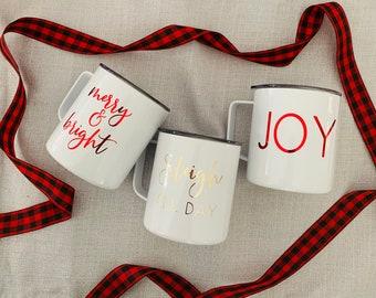 Christmas Campfire Mugs | Holiday Mug | Christmas Coffee Mug | Christmas Mug | Christmas Gift | Winter Mug | Campfire Mug | Holiday Gift
