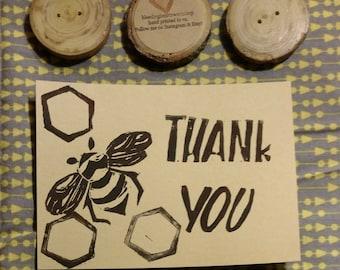 Bee Flat Notecard Set