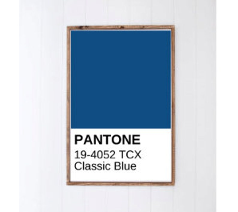 Classic Blue PANTONE Poster  2020 PANTONE Color of the Year  image 0
