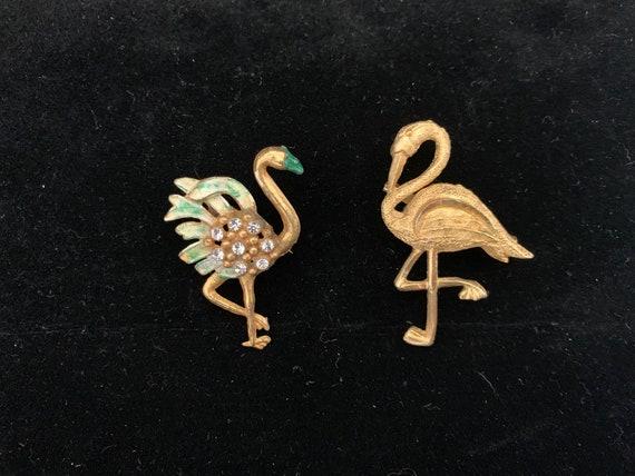 Vintage Flamingo Brooches