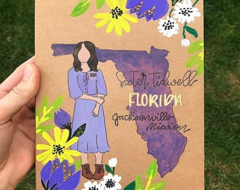 Hand Painted Missionary Journal