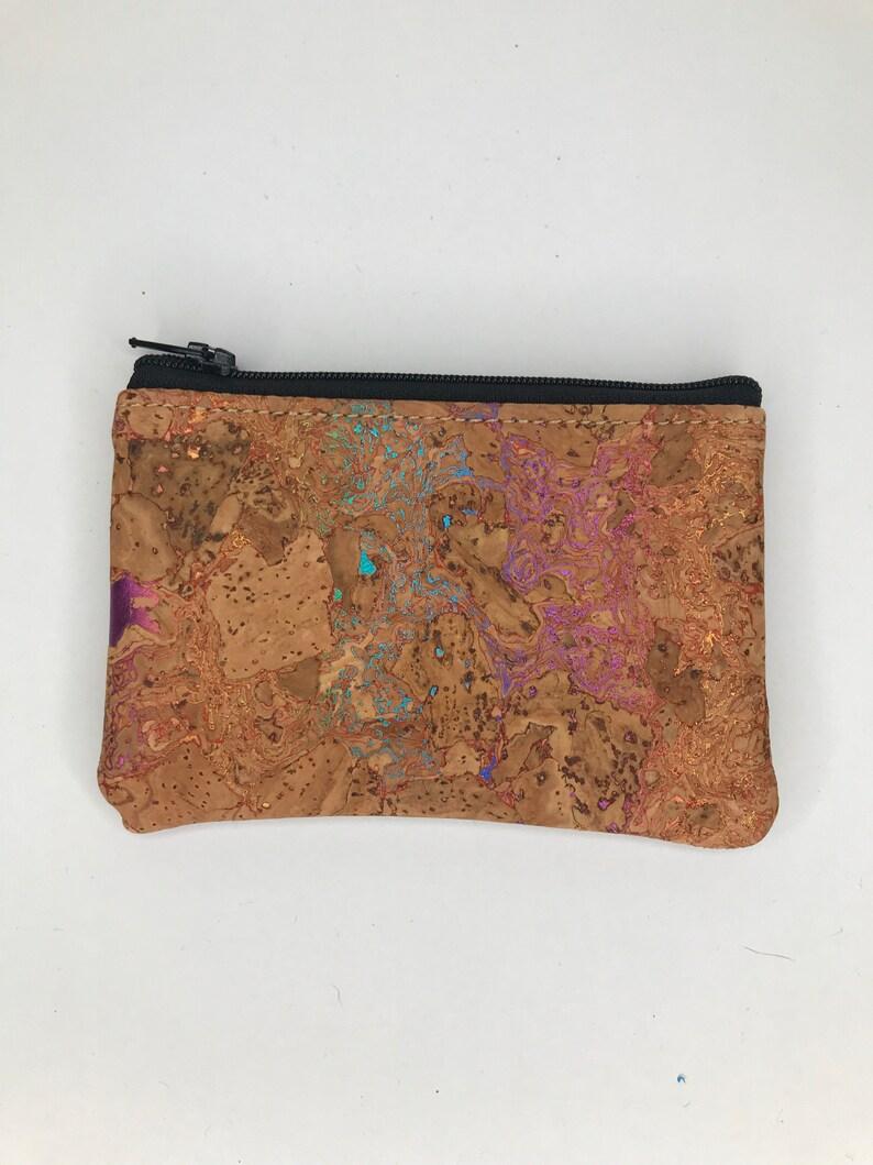 Cork Coin PouchCork EarbudCork Card Holder Choose your Fabric Natural Cork