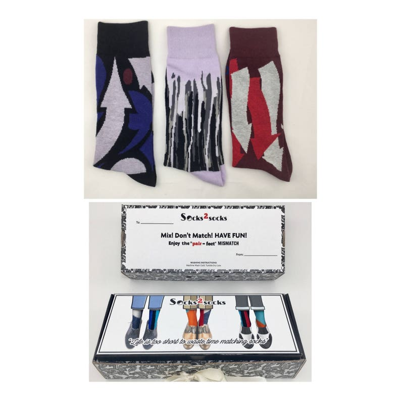 3 PAIRSGift Box of  happy funny novelty  Men/' s large cotton crew wedding Easter gift  socks size 9-13