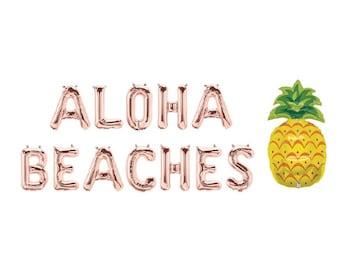 8fba9065c871 Aloha Beaches Letter Balloons