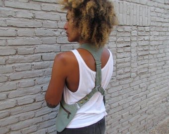 Denim Holster Bags with Zippers