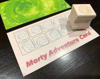 Rick and Morty Adventure Cards with Stamp.