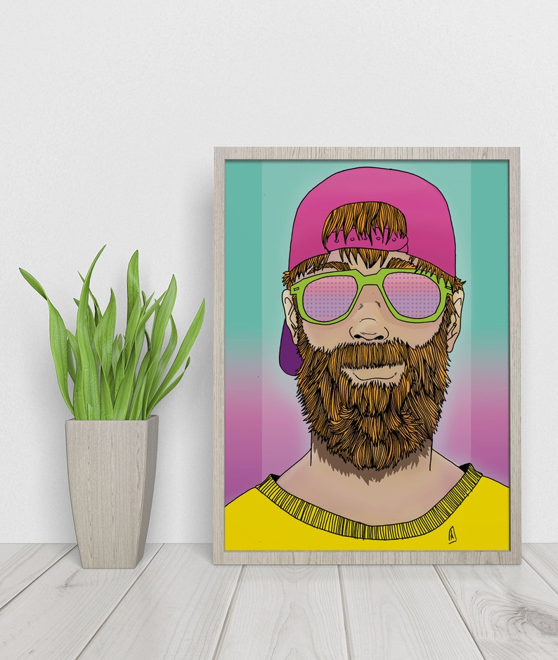 That Beard Dematerialized Poster  Printable art poster  image 0