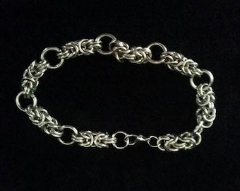 Byzantine Chainmaille bracelet, Aluminium