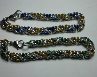 Sports team colors, Byzantine chainmaille bracelet