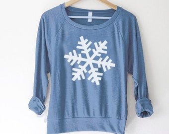 50b684c5e0dfd Holiday sweater - snowflake sweater - holiday sweatshirt - snowflake  sweatshirt - womens christmas sweatshirt - jewish - winter shirt - snow