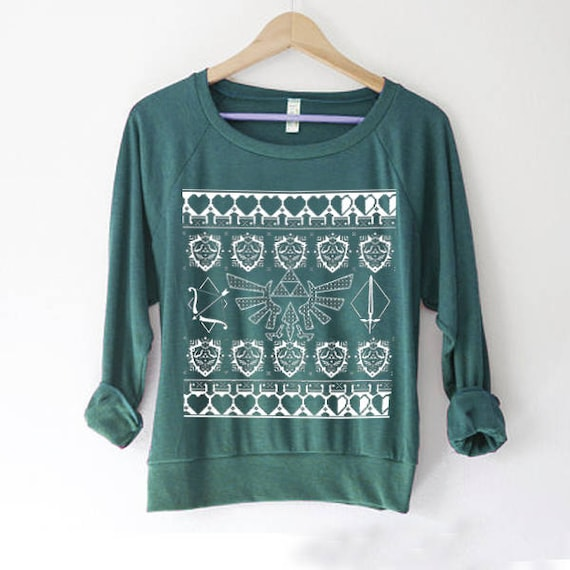 Zelda Sweater Ugly Christmas Sweater Nerd Gift Legend Of Etsy