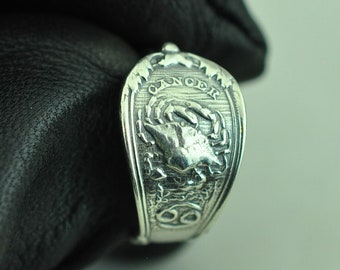 FREE Backing. 925 Sterling Silver Straight L Bend Ring Crab 22G