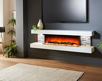 Peachy Electric Fireplace Etsy Interior Design Ideas Tzicisoteloinfo