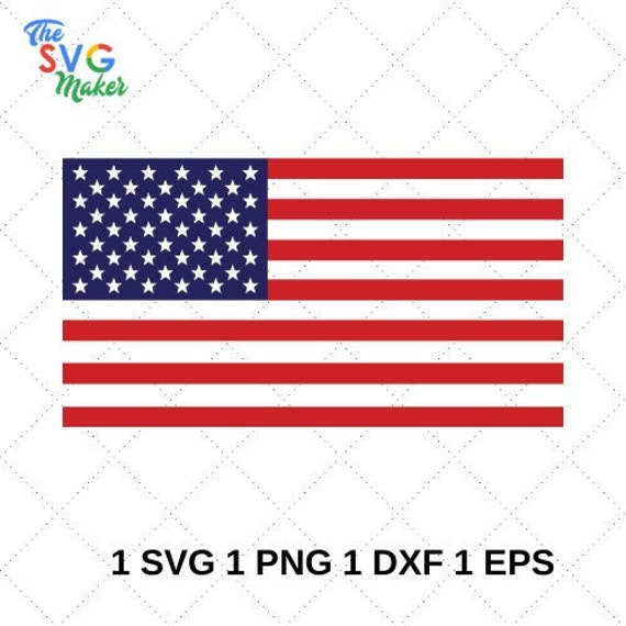 American Flag Svg Cut Files Svg Files For Cricut Vector Etsy