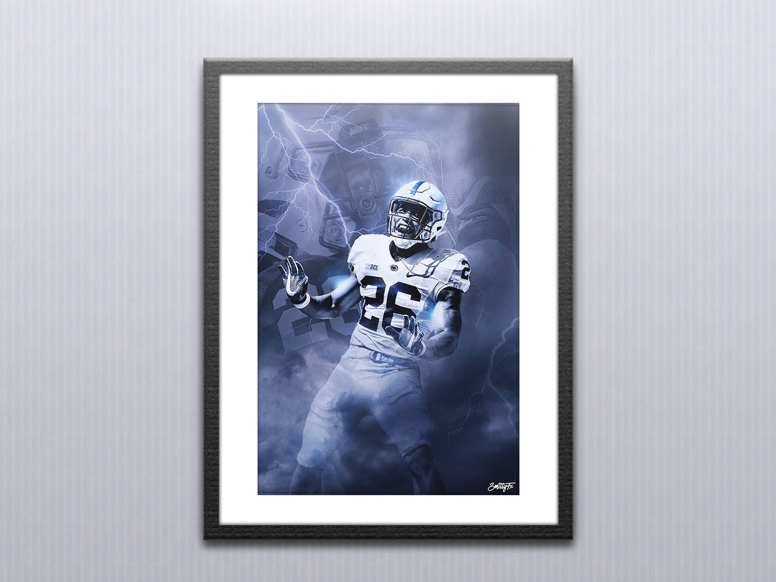Saquon Barkley Penn State. Custom Sports Poster. Great for | Etsy