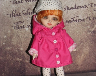 Pink_Coat for Lati yellow PukiFee Fairyland LUTS Tiny Delf,  Irrealdoll  BJD dolls clothes  tiny