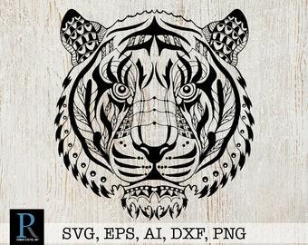 Mandala Tiger Svg Etsy