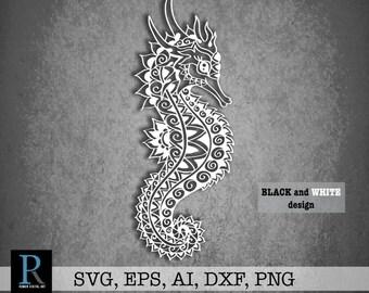 571982de33c1 Seahorse zentangle | Etsy