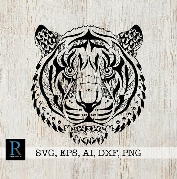 Zentangle tiger svg mandala tiger svg tiger for cricut etsy - Tigre mandala ...