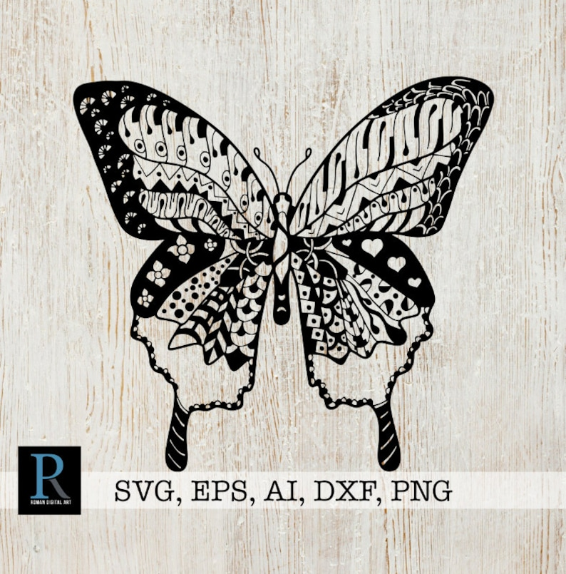 Download Zentangle butterfly SVG Mandala butterfly SVG butterfly ...
