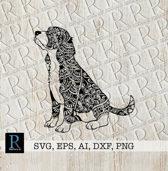 Zentangle Beagle Dog Svg File Puppy Sitting Svg Mandala Etsy