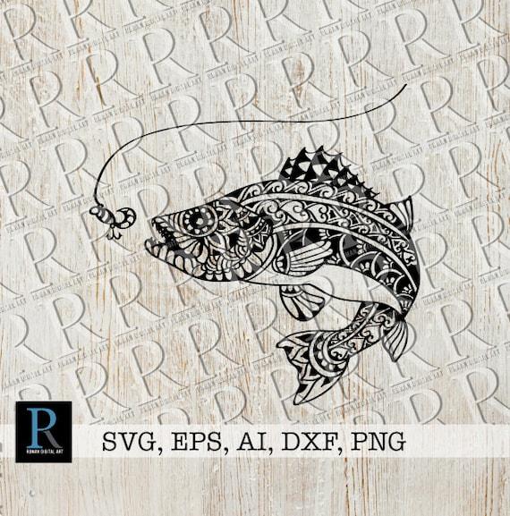 Download Zentangle Walleye Svg Mandala Walleye Fishing Svg Walleye Etsy