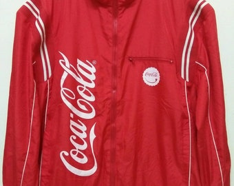 8ca39cef901e True vintage 80's Coca Cola ringer Jacket, coca cola collectibles, vintage  coca cola clothing, Coca Cola windbreaker jacket size XLarge 25'