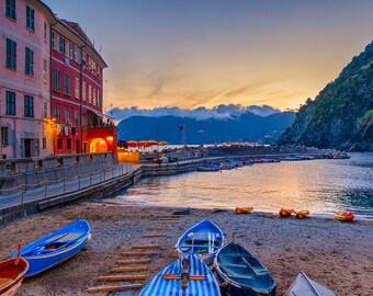 Matted Photo Print – Porto Di Vernazza – Cinque Terre, Italy – 16x20 - 11x14 - 8x10