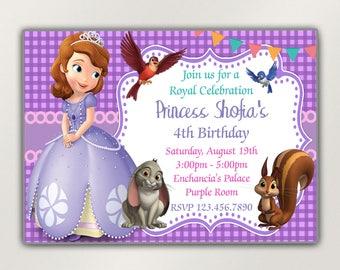 Princess Sofia, Princess Sofia Invitation, Sofia the first birthday, Sofia the first invitation, Princess Sofia party, Sofia the first party