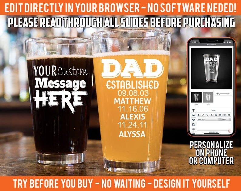 Dad Gift, Gifts for dad birthday, personalized gifts, dad gifts, gifts for  dad, New Dad, father's day gift, dad beer glasses, dad pint glass