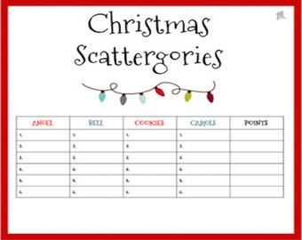 photograph regarding Scattergories Junior Lists Printable named January Vocabulary Scattergories Sport Printable down load Etsy